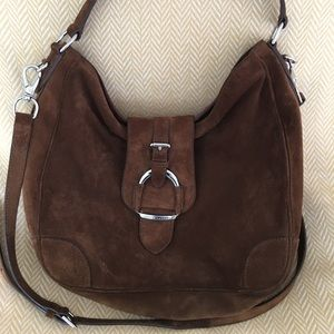 Ralph Lauren brown suede Hobo bag